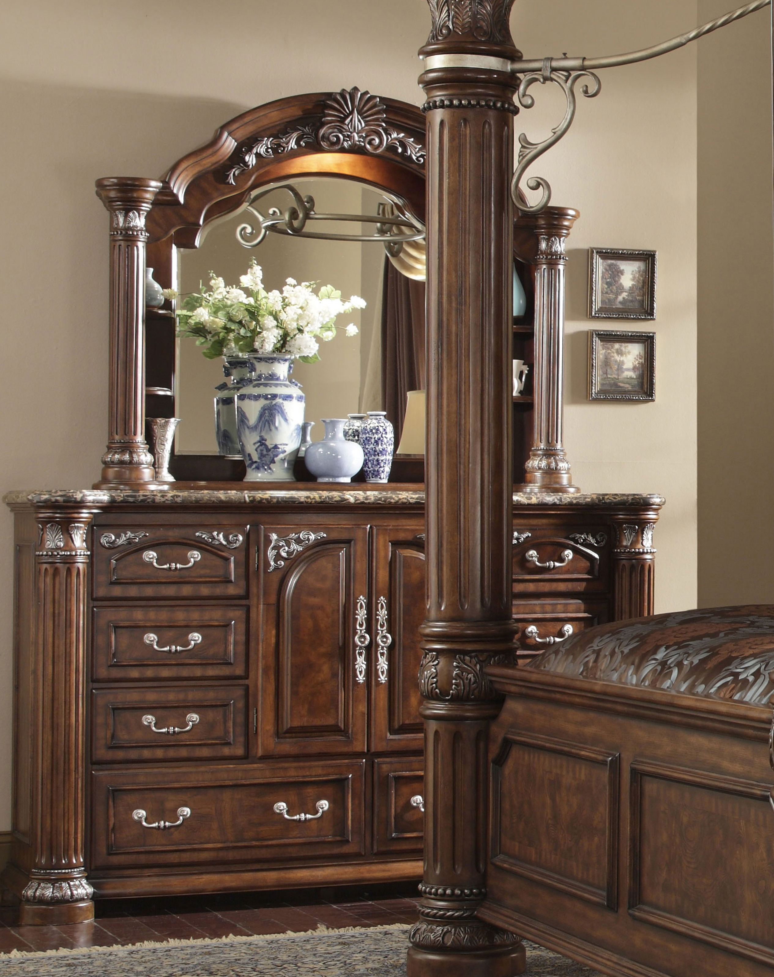 AICO Monte Carlo II Dresser and Mirror